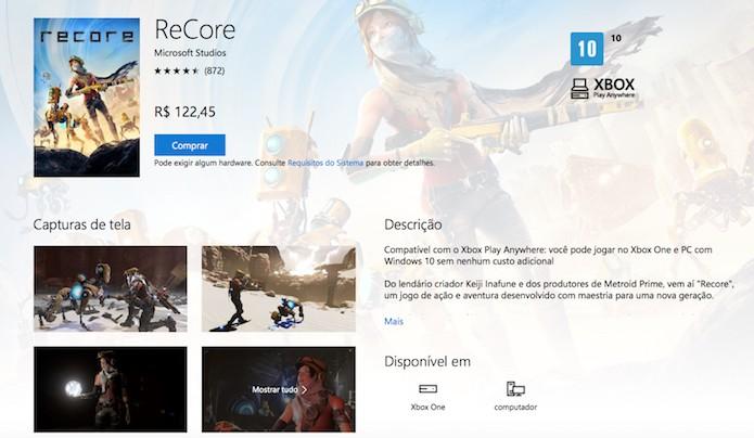 ReCore é o primeiro game com a funcionalidade Play Anywhere, disponíveis às plataformas Microsoft (Foto: Reprodução/Victor Teixeira)