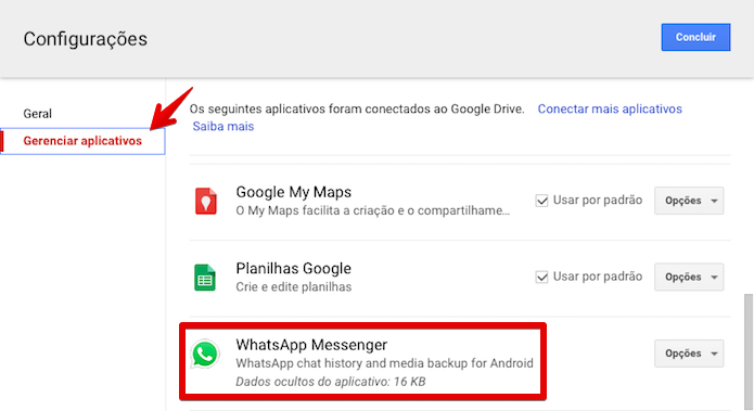 how to check whatsapp backup in google drive