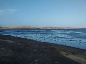 Além do problema da seca, lixo ainda é despejado na lagoa (Foto: Joselma Cordeiro/Arquivo Pessoal)