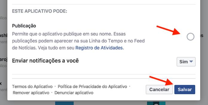 Função que impede que um aplicativo publique em seu nome no Facebook (Foto: Reprodução/Marvin Costa) (Foto: Função que impede que um aplicativo publique em seu nome no Facebook (Foto: Reprodução/Marvin Costa))