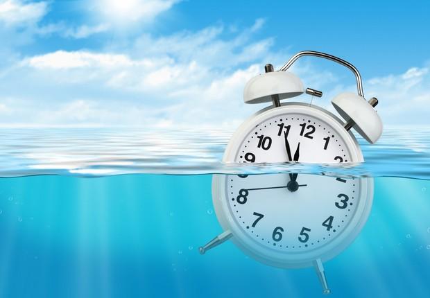 procrastinação - procrastinar - relógio afundando  (Foto: Thinkstock)