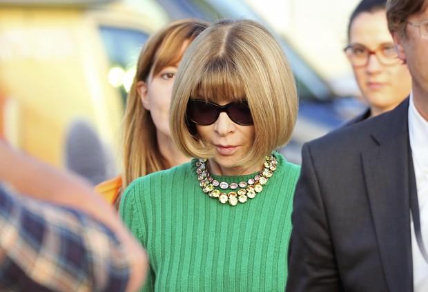 Anna Wintour indo para o casamento de George Clooney (Foto: Reuters)