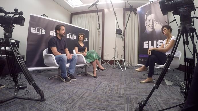 Aline Alves conversou com a atriz Andreia Horta e o diretor Hugo Prata (Foto: Divulgação/ TV Gazeta)