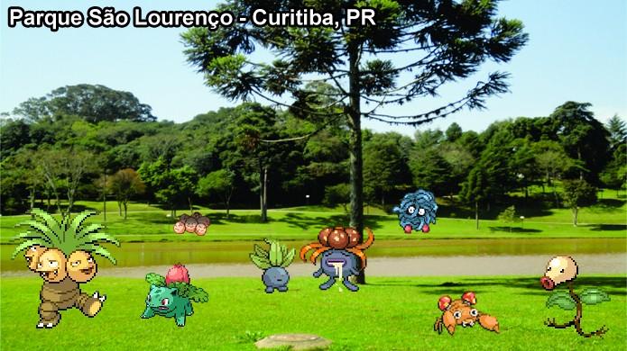 Agradáveis idas ao parque podem render muitos pokémons de Grama em Pokémon Go (Foto: Reprodução/Rafael Monteiro)