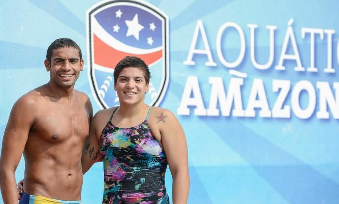 Allan do Carmo e Ana Marcela Soares Rio Negro Challenge (Foto: Alcides Neto/Aquática Amazonas)