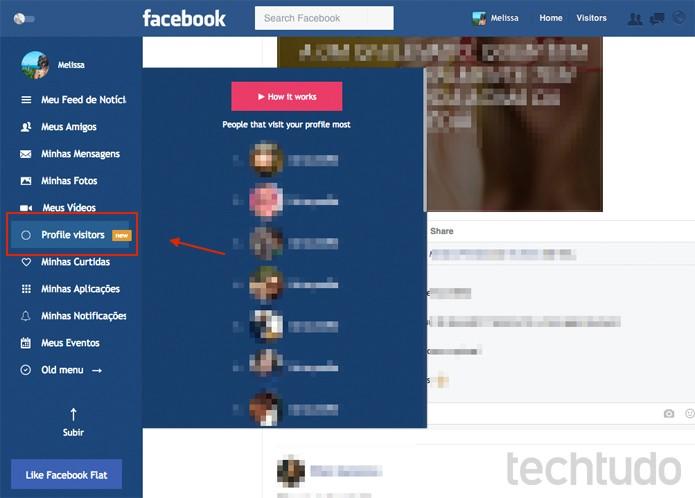 Plugin Facebook Flat promete revelar quem visitou o seu perfil no Facebook (Foto: Reprodução/TechTudo)