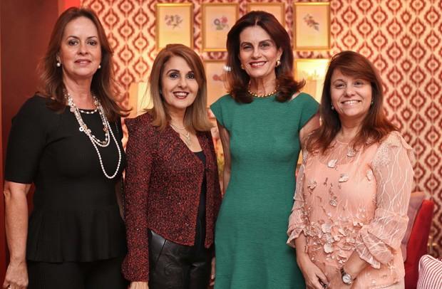 Celia Silva, Rosario Magalhães, Cristina Calumby e Rosani Cardoso (Foto: Divulgação)