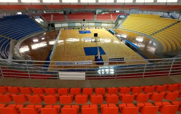 Ginásio Sabiazinho - Arena Tancredo Neves, em Uberlândia (Foto: Andréia Candido/GLOBOESPORTE.COM)