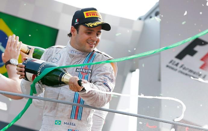 Felipe Massa, pódio GP da Itália (Foto: EFE)