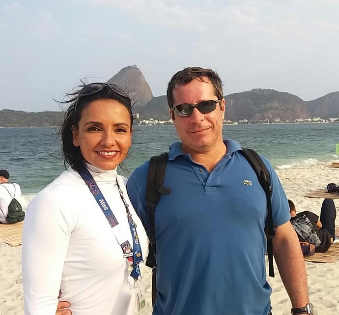 A sister ao lado do namorado Walter, de 49 anos (Foto: arquivo pessoal)