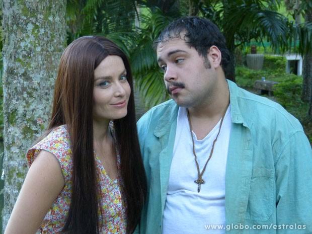 Angélica e Thiago arrancaram muitas gargalhadas durante as gravações (Foto: TV Globo/Estrelas)