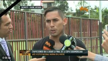 Gilberto García lateral Atlético Nacional (Foto: Reprodução / Twitter)