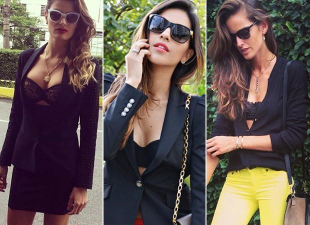 Lingerie que aparece - Isabelli Fontana, Mariana Rios e Isabel Goulart (Foto: Instagram / Reprodução)