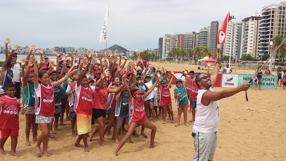 Circuito de Verão na Praia de Camburi (Foto: Divulgação/ TV Gazeta)