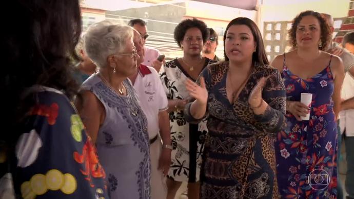 Preta fala da sua relação com o filho Francisco (Foto: TV Globo)