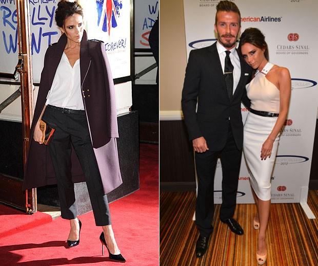 Victoria Beckham sabe explorar bem seu melhor ângulo e, em todas as fotos, procura sair da mesma forma (Foto: Getty Images)