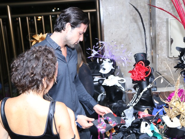 Sérgio Marone em baile de carnaval no Rio (Foto: Anderson Borde/ Ag. News)