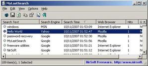 MyLastSearch, buscador de arquivo