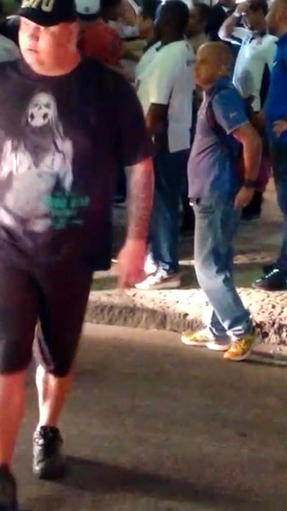 Savio na noite da agressão ao jogador do Vasco (Foto: Reprodução)