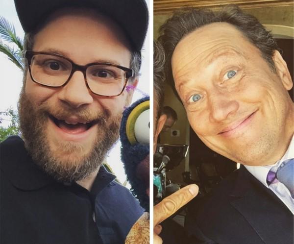 Os comediantes Seth Rogen e Rob Schneider (Foto: Instagram)