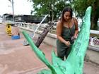 No AP, artesã propõe oficina para ensinar uso de recicláveis em obras