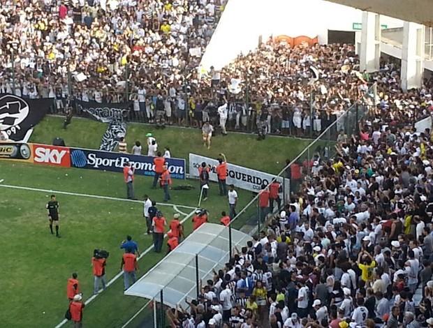 Confusão no estádio Frasqueirão antes de ABC x Palmeiras (Foto: Marcelo Hazan)