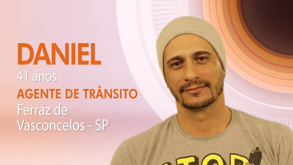 Daniel tem 41 anos e é agente de trânsito (Foto: TV Globo)