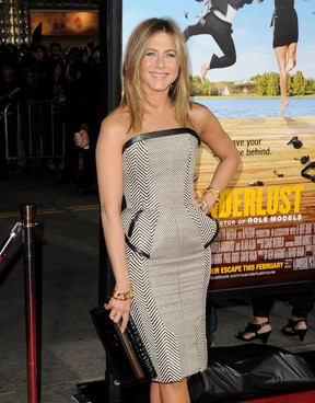 "Jennifer Aniston na première de ""Wanderlust"" (Foto: Getty Images/Agência)"