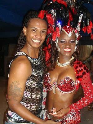 Diego Gonfer e Matsui Lima rainha carnaval Juiz de Fora 2012 (Foto: Diego Gonfer/Arquivo pessoal)