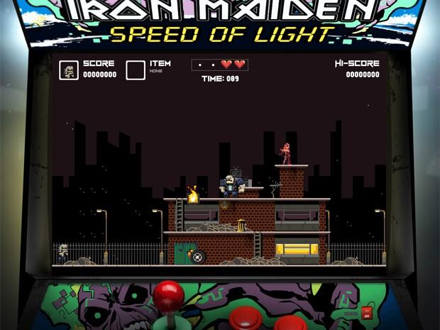 Iron Maiden lança game da música 'Speed of light' (Foto: Reprodução/IronMaiden.com)