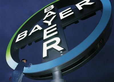 Logo da Bayer na sede da empresa na Alemanha (Foto: Divulgação)