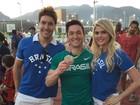 Bárbara Evans e o namorado tietam Diego Hypolito após vitória: 'Merecido'