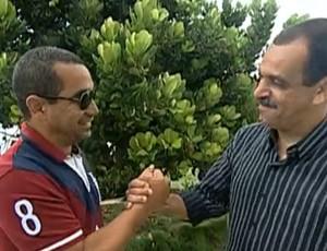 Ricardo Cruz e Zinho (Foto: Reprodução TV Globo)