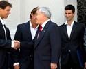 Antes de exibição, Nadal e Djokovic fazem visita a presidente do Chile