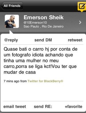 Sheik (Foto: Reprodução / Twitter)