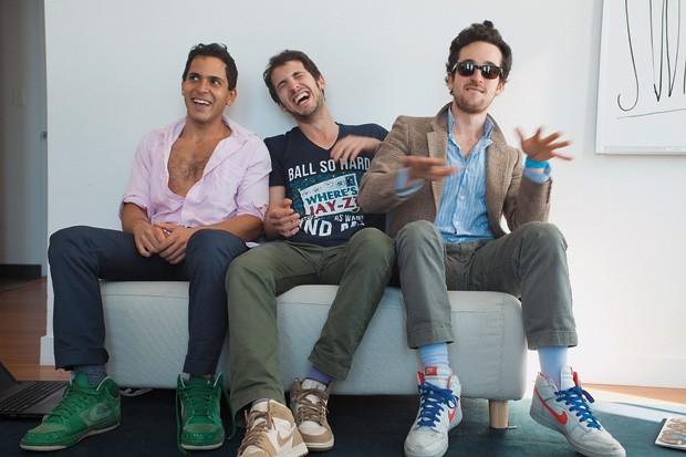 NOVOS RICOS Mahbod Moghadam (à esq.), Ilan Zechory e Tom Lehman, os criadores do Rap Genius. O site deles vale US$ 15 milhões  (Foto: Mark Ostow/Reuters)