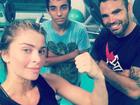 Grazi Massafera surge suada em foto após treino e ganha elogio de personal