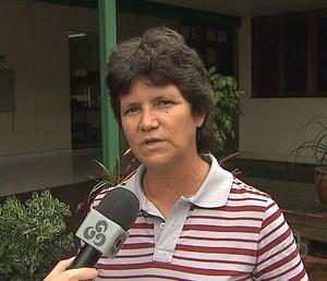 Maria Rosaides, a Bolha, presidente da Federação Acreana de Handebol (Foto: Reprodução/TV Acre)
