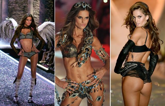 Faceta angel da Victoria's Secret nos desfiles de 2006, 2012 e 2013 (Foto: Getty Images)