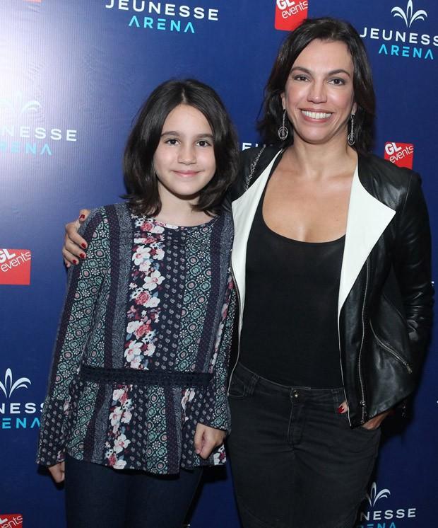 A jornalista Ana Paula Araújo e a filha, Melissa (Foto: Marcello Sá Barretto/AgNews)