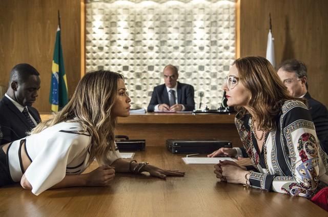 Valkíria e Sandra Helena vão se enfrentar no tribunal (Foto: Globo/ Estevam Avellar)