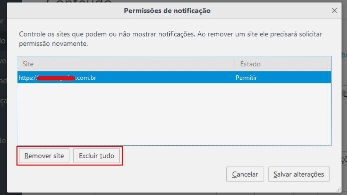 Apagando sites que enviam notificações no Firefox (Foto: Reprodução/Edivaldo Brito)