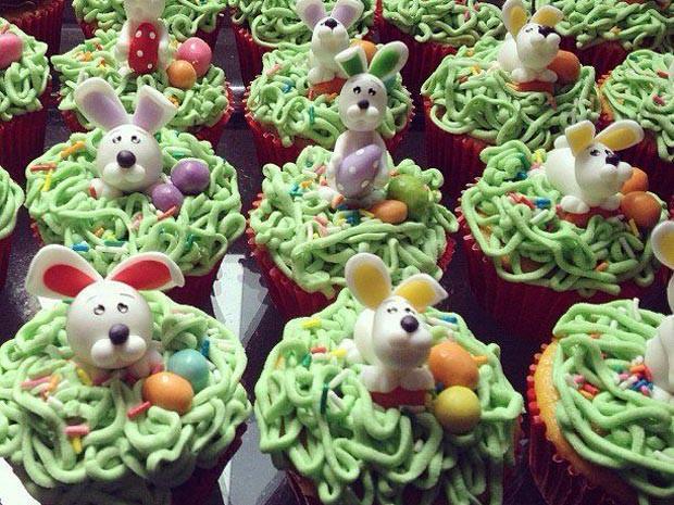 cupcake Páscoa Divinópolis cupcakes MG (Foto: Cupcakery/Divulgação)