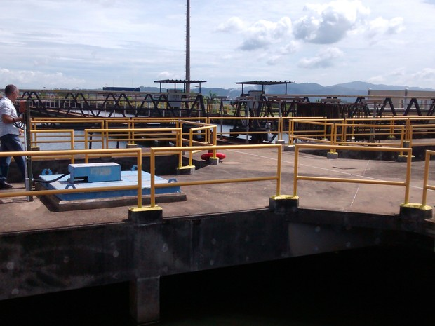 Água captada na represa Billings será tratada na ETA de Suzano, na represa de Taiaçupeba (Foto: Jamile Santana/G1)