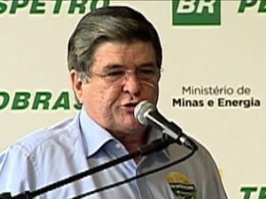 Sérgio Machado, presidente da Transpetro, pede licença do cargo/GNews (Foto: Reprodução GloboNews)