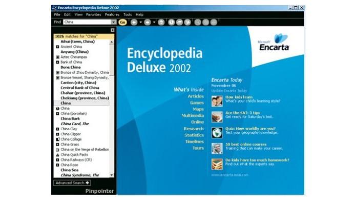 Microsoft Encarta era enciclopédia em CD-ROM feito para Windows XP (Foto: Reprodução/Microsoft)