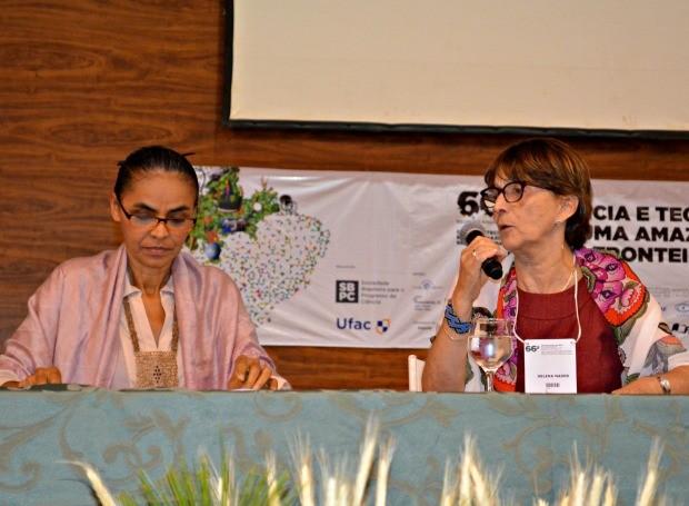 Marina Silva no Acre  (Foto: Caio Fulgêncio/G1)