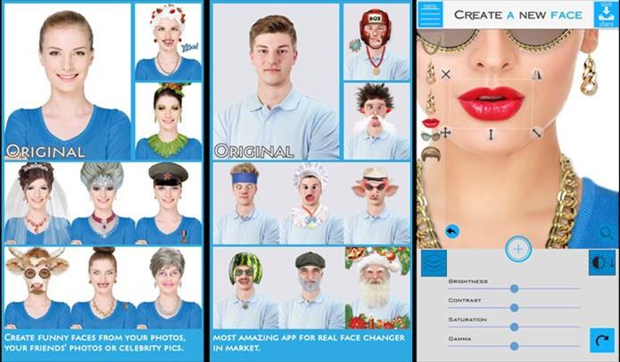 Create a New Face é um aplicativo que transforma a aparência das pessoas (Foto: Divulgação/Windows Store)