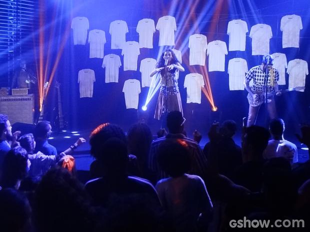 O trio simplesmente arrasou no show na Califórnia (Foto: Geração Brasil/TV Globo)