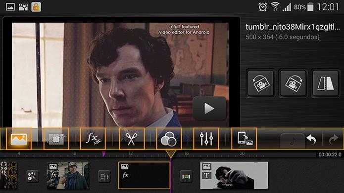Configurações para a edição do vídeo ou imagem na sua montagem (Foto: Reprodução/Barbara Mannara)